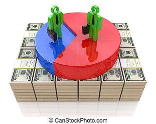 crescimento financeiro, de, a, negócio
