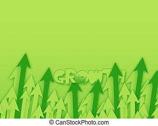 crescimento, fundo
