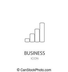 crescimento, negócio, ícone