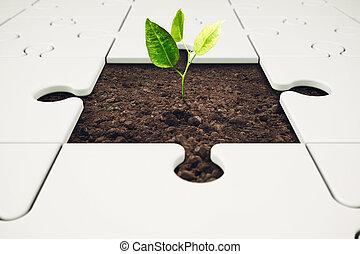 crescita, e, sviluppo, attraverso, lavoro squadra