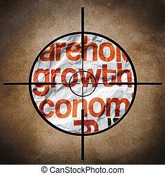 crescita, economia, bersaglio