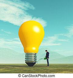 crescita, idea, concpt