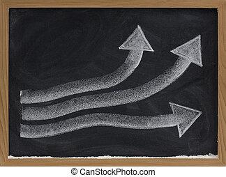 crescita, o, progresso, concetto, su, lavagna