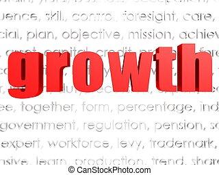 crescita, parola, nuvola
