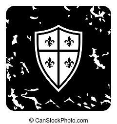 Crest icon, grunge style