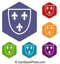 Crest icons set