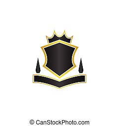 Crest logo design template vector