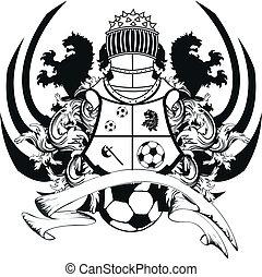 crest5, heraldisch, voetbal, leeuw