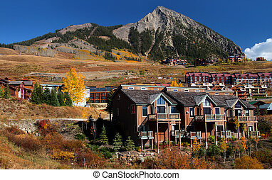 Crested Butte - Beautiful homes on the hill near Crested...