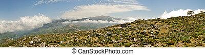 cretan, 白い 山, パノラマ