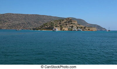 Cretan island of Spinalonga. Crete. Greece. Sea voyage by...