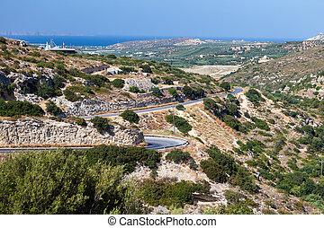 crete, 山の道, 島