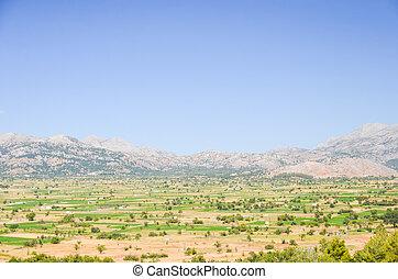 crete, 島, ギリシャ, プラトー, 絵のよう