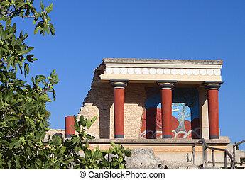 crete, 島, knossos, 宮殿