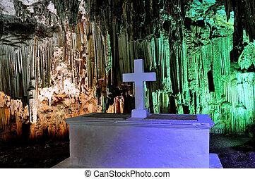 crete, 洞穴, 印象的, melidoni, ギリシャ