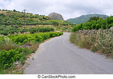 crete, 道, 島, ギリシャ