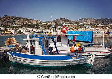Crete fishing boats