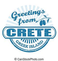 Crete greek island, stamp