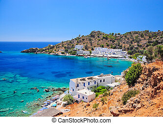 Crete, greek village of Loutro