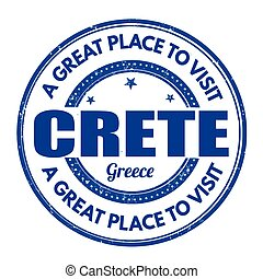 Crete sign or stamp