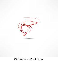 crevette, icône