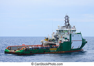 Crew and Supply Vessel offshore