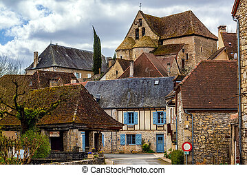 Creysse, a typical french village in Haut Quercy, Lot...