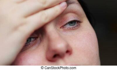 cri, -, figure, closeup, larmes, expression