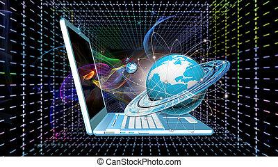 criação, novo, cósmico, conexão