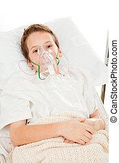 criança, asma