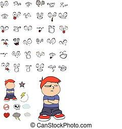 criança, caricatura, set11