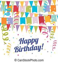 criança, carnaval, partido aniversário, vetorial, poster., criança, carnaval, partido aniversário, vetorial, cartaz