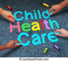 criança, cuidado saúde