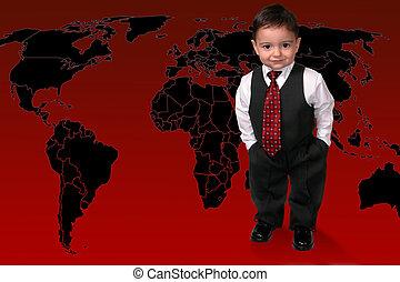 criança menino, negócio