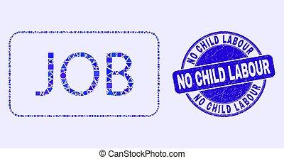 criança, selo, azul, trabalho, trabalho, caption, não, angústia, mosaico