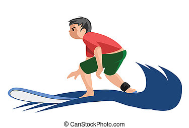 criança, surfista