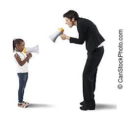 criança, vs, mulher