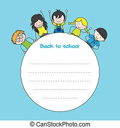 crianças, apoie escola