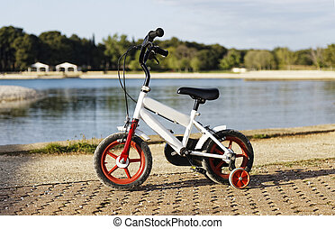 crianças, bicicleta
