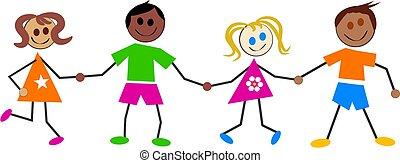 crianças, colorido