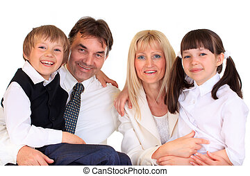 crianças, com, pais