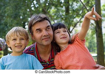 crianças, com, tio