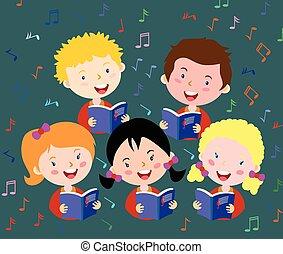 crianças, coro
