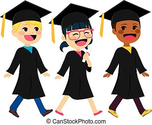 crianças, diversidade, graduação