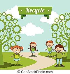 crianças, ecológico