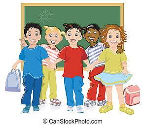 crianças escola