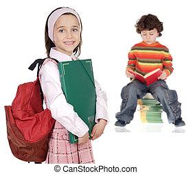 crianças, estudantes