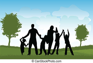 crianças, família