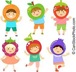crianças, fruity