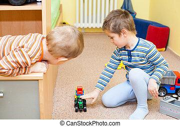 crianças, jogue, brinquedos